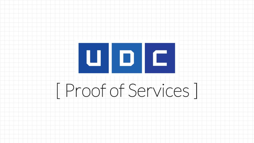 UDC, Proof of Service, 업비트 개발자 컨퍼런스 2019