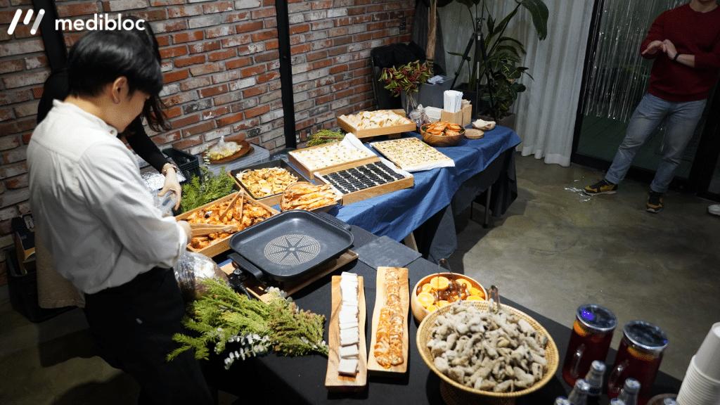 뷔페, 음식, 식사, 워크샵, 케이터링